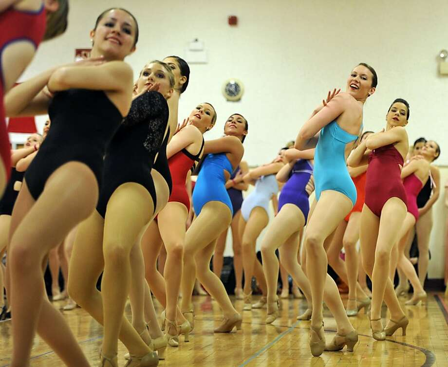 Rockette launch:Dancers audition for this year's production of the Radio City Christmas Spectacular at Radio City Music Hall in New York. Photo: Timothy A. Clary, AFP/Getty Images