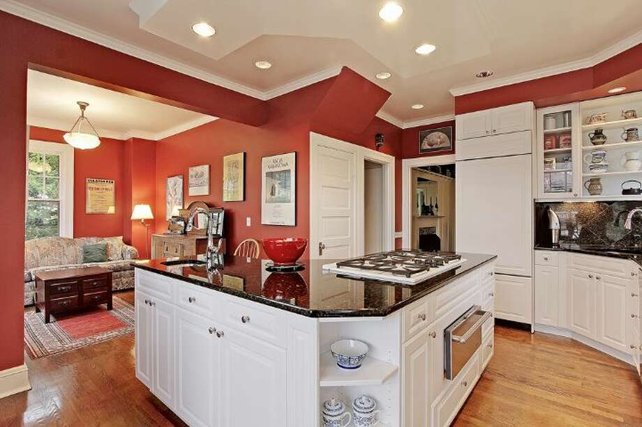 Kitchen of 2833 Broadway E. The 3,706-square-foot house, built in 1909, has five bedrooms, 2.75 bathrooms, a kitchen sitting area, a den, a reading nook, a second kitchen, a wine cellar, a front porch and a deck on a 5,500-square-foot lot. It's listed for $985,000. Photo: Courtesy Jan Selvar, Windermere Real Estate