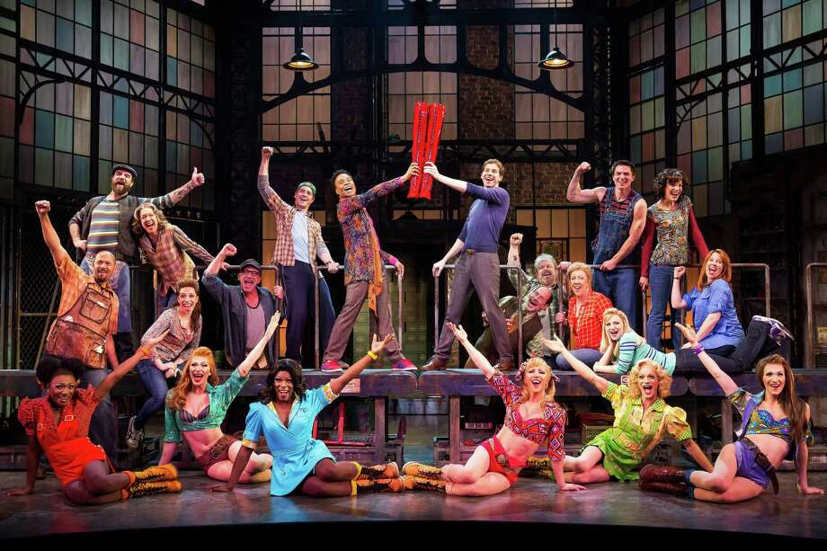 "This theater image released by The O+M Company shows the cast during a performance of the musical ""Kinky Boots."" Photo: The O+M Company, Matthew Murphy"