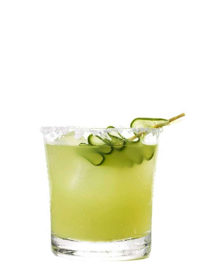 Here's a cocktail with a fresh twist - cucumber jalapeno margaritas. Get the recipe here.  Photo: Jonny Valiant