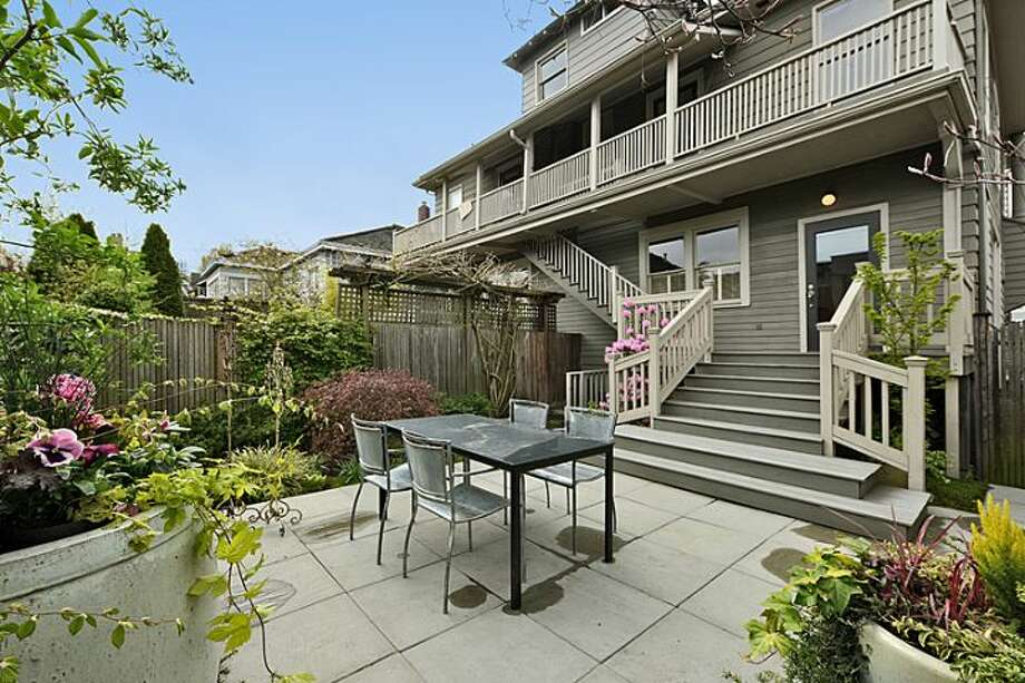 Decks and patio of 2308 11th Ave. E. The 2,993-square-foot townhouse, built in 1912, has three bedrooms, 2.75 bathrooms and a family room on a 4,500-square-foot lot. It's listed for $979,000. Photo: Courtesy Mimi Bemis, Windermere Real Estate