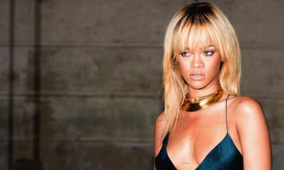 The blonde bombshell Rihanna.