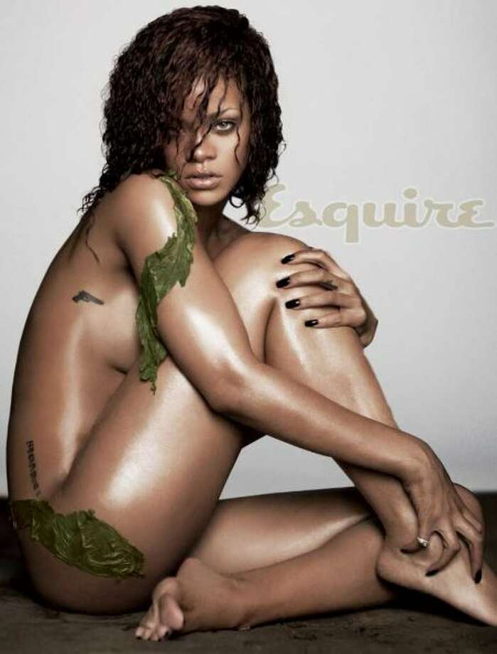 The undressed for Esquire Rihanna.