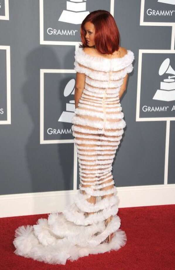 The worst runway dress ever Rihanna.