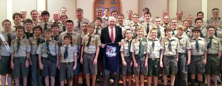 With Boy Scout Troop 531. Facebook Photo.