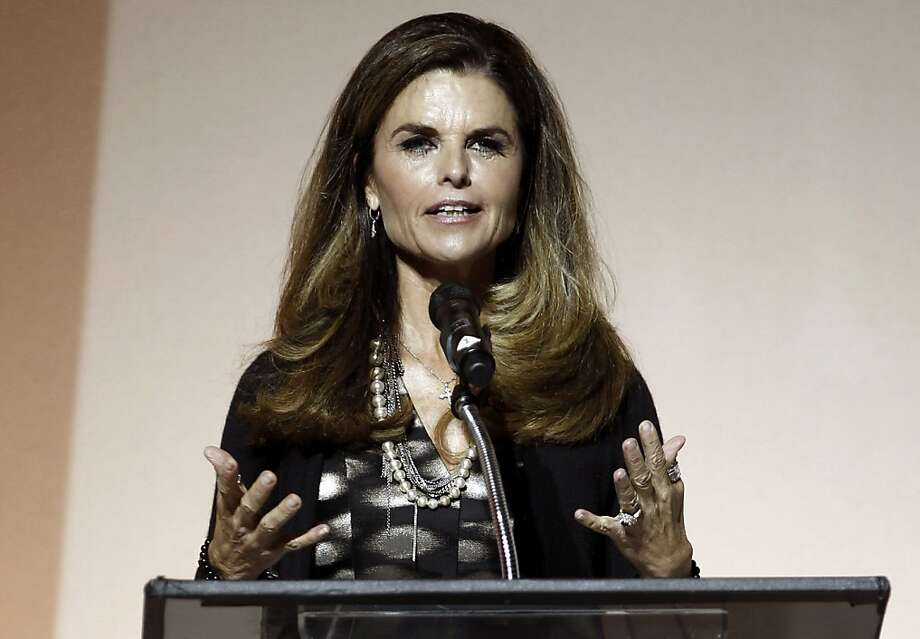 "5. Maria Shriver: ""The best head of hair in politics hands down - thick beautiful brunette waves."" Photo: Matt Sayles, Associated Press"