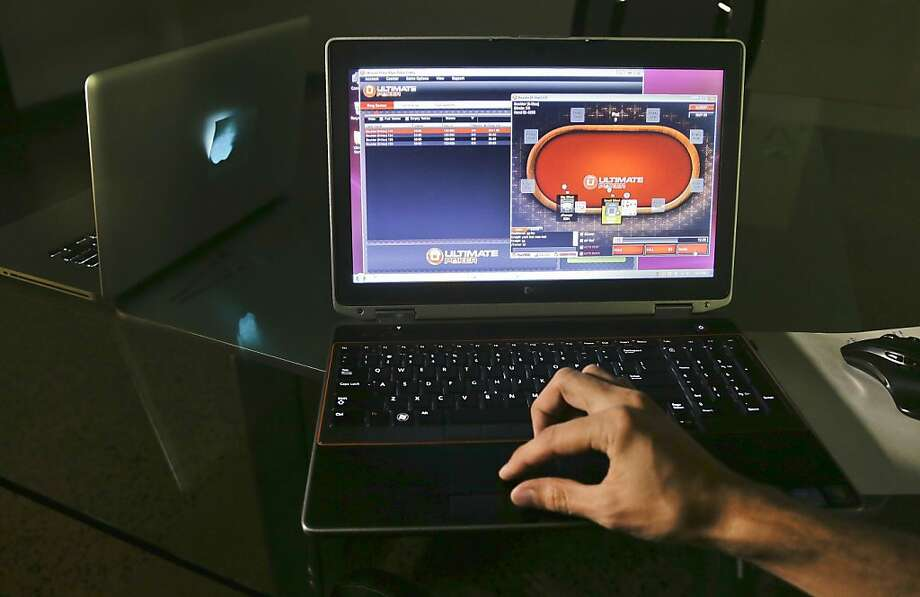 Ultimate Gaming, launched by a Las Vegas casino subsidiary, is the first fully legal poker website in the United States. Photo: Julie Jacobson, Associated Press