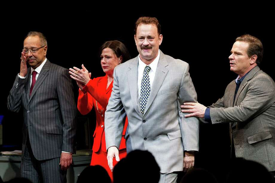 "Tom Hanks received a Tony nomination for best leading actor in ""Lucky Guy."""