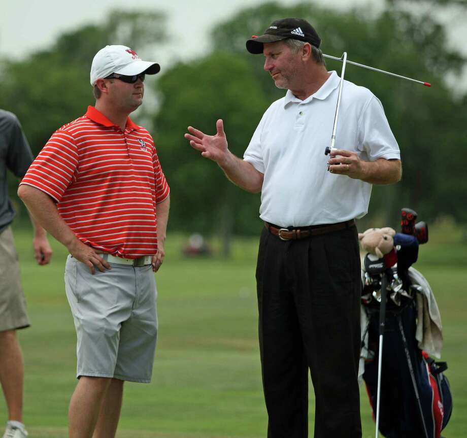 Jonathan Dismuke, left, has guided the Coogs to three tournament titles. Photo: Eric Christian Smith, For The Chronicle