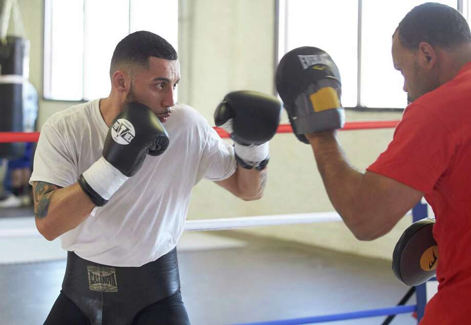 Frank Galarza Sparring PHOTO CREDIT: David Spagnolo Photo: Contributed Photo/ PHOTO CREDIT:, Contributed Photo / The News-Times Contributed