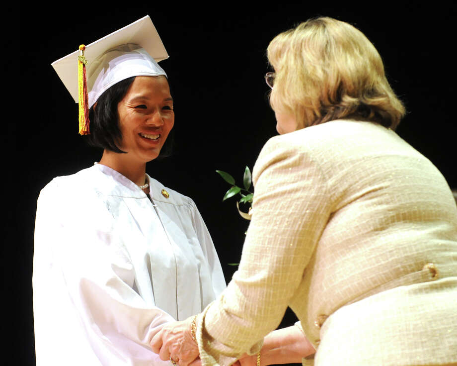 Graduation Commencement Exercises for the Bridgeport Hospital School of Nursing, held at Fairfield University's Quick Center for the Arts, in Fairfield, Conn., April 30th, 2013. The commencement was held for both the Class of Decmeber 2012, and the Class of May 2013. Photo: Ned Gerard / Connecticut Post