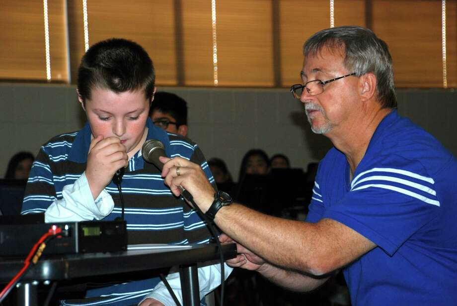 Christopher Babbichio, a seventh-grader at Thornton Middle School, found the right frequency on the ham radio to communicate with the International Space Station.