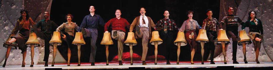 "Peter Billingsley, who played Ralphie in the movie, went on to co-produce a staged, musical adaptation of the movie that opened on Broadway in 2012. In this photo, John Bolton, center, and company in ""A Christmas Story, The Musical!"""