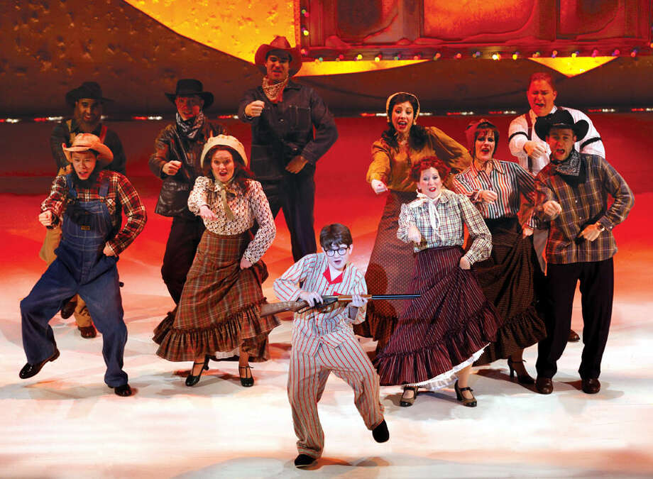"""Clarke Hallum and company in """"A Christmas Story, The Musical!"""""""