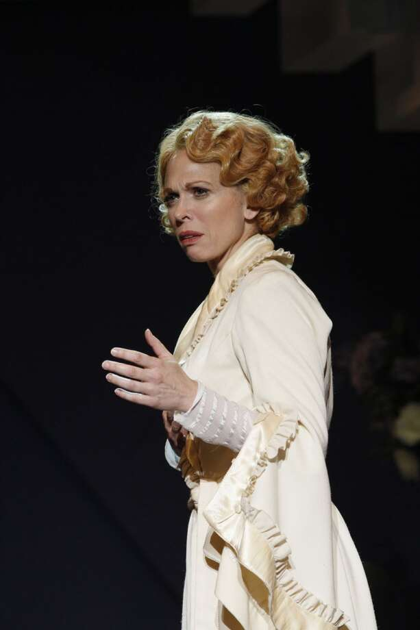 "Another image of Carolee Carmello in ""Saving Aimee"" at The 5th Avenue Theatre."