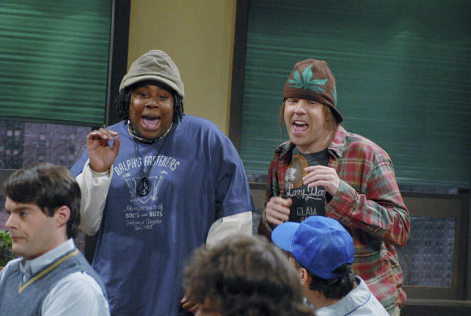 "Giggle Smoke  Kenan Thompson as Skooch, Jason Sudeikis as Mando during ""Prom Committee"" skit on Saturday Night Live. Photo: NBC, NBC Via Getty Images / 2012 NBCUniversal, Inc."