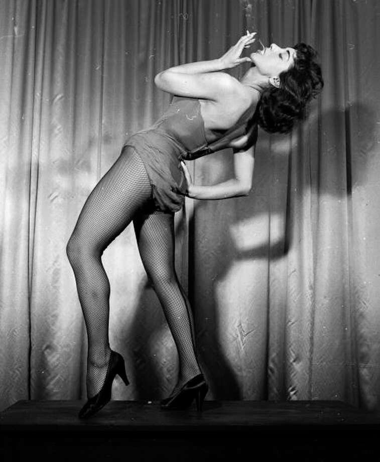 Wacky Tobacky  Greek dancing sensation Lili Berde performs her erotic number 'The Marijuana.' Photo: Juliette Lasserre, Getty Images / Hulton Archive
