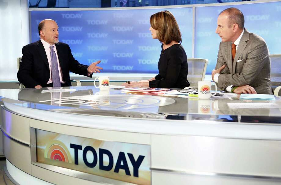 Jim Cramer, left, pictured in 2013 with Savannah Guthrie and Matt Lauer. Photo: NBC NewsWire, Getty Images / 2013 NBCUniversal Media, LLC.