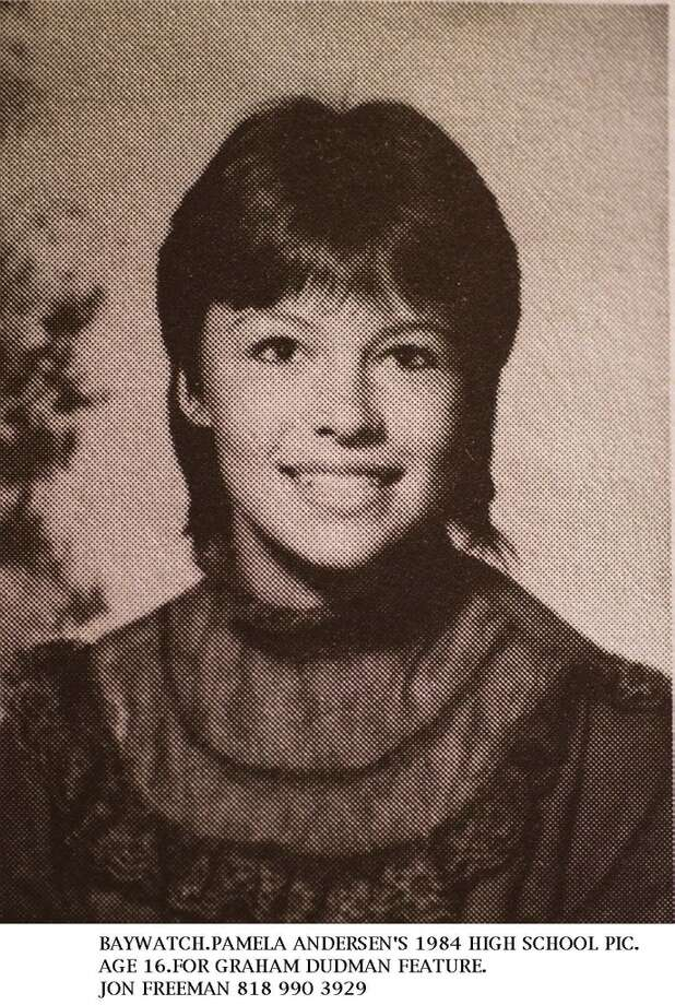 ... 1984. This is Pamela Anderson\'s high school portrait when she was 16. She was born in Ladysmith, British Columbia.