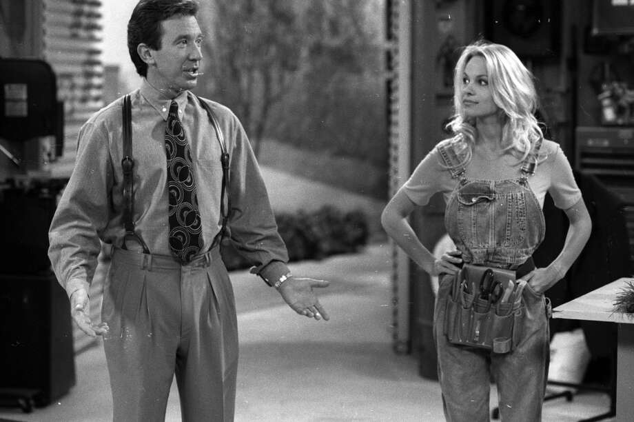 Pamela Anderson with Tim Allen in \'\'Home Improvement,\'\' 1993.