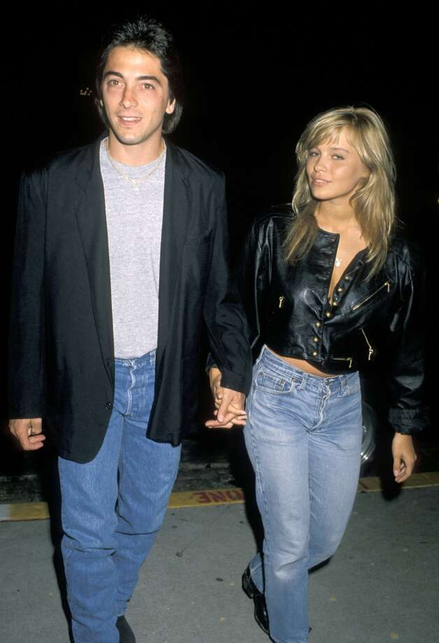 Pamela Anderson with Scott Baio, circa 1990. (Photo by Jim Smeal/WireImage)