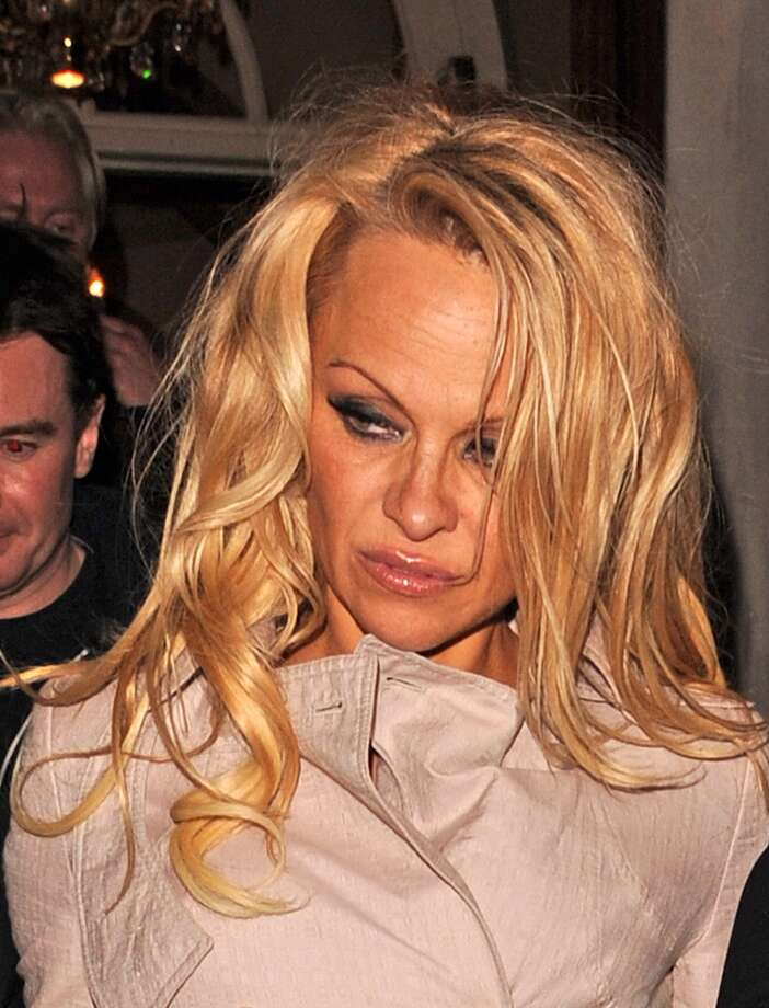 Pamela Anderson in a 2013 candid photo in London.