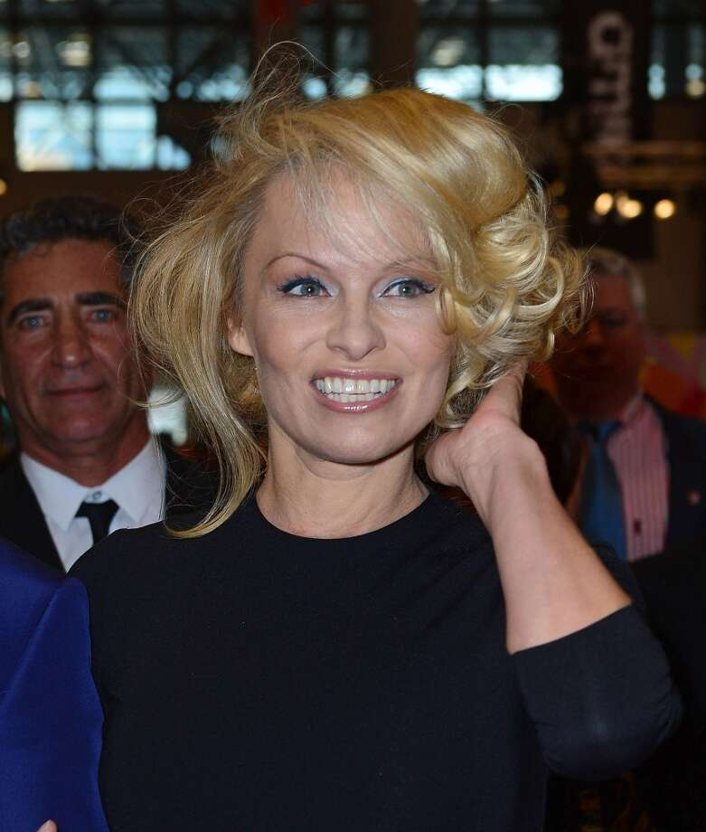Pamela Anderson, at age 45, on April 15, 2013.