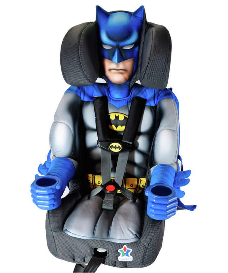 KidsEmbrace is selling character themed car seats. One of four models is a Batman car seat. Photo: KidEmbrace