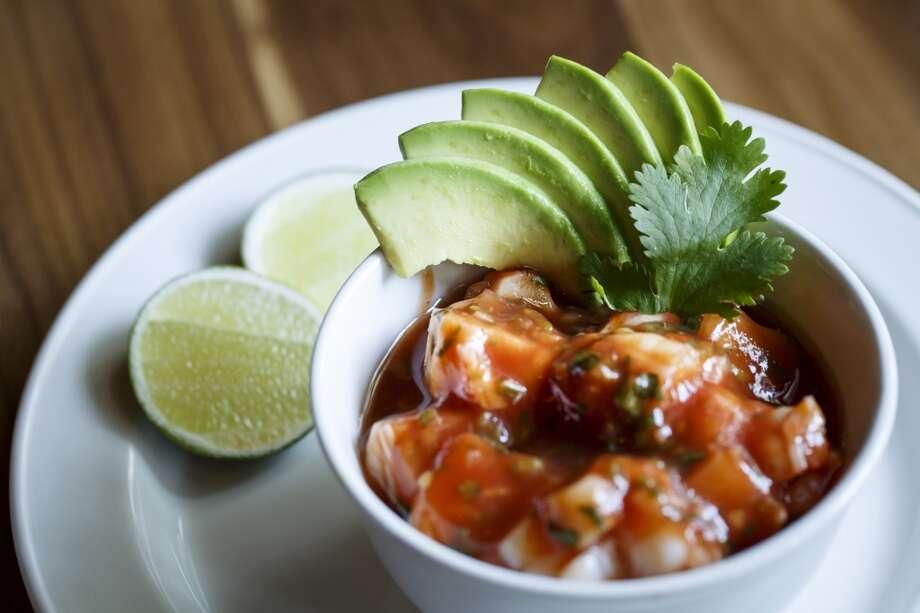 The Spicy Shrimp Cocktail at La Casa del Caballo. Photo: Michael Paulsen, Houston Chronicle