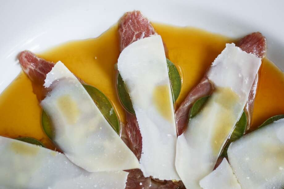 The Beef Tenderloin Carpaccio at La Casa del Caballo. Photo: Michael Paulsen, Houston Chronicle