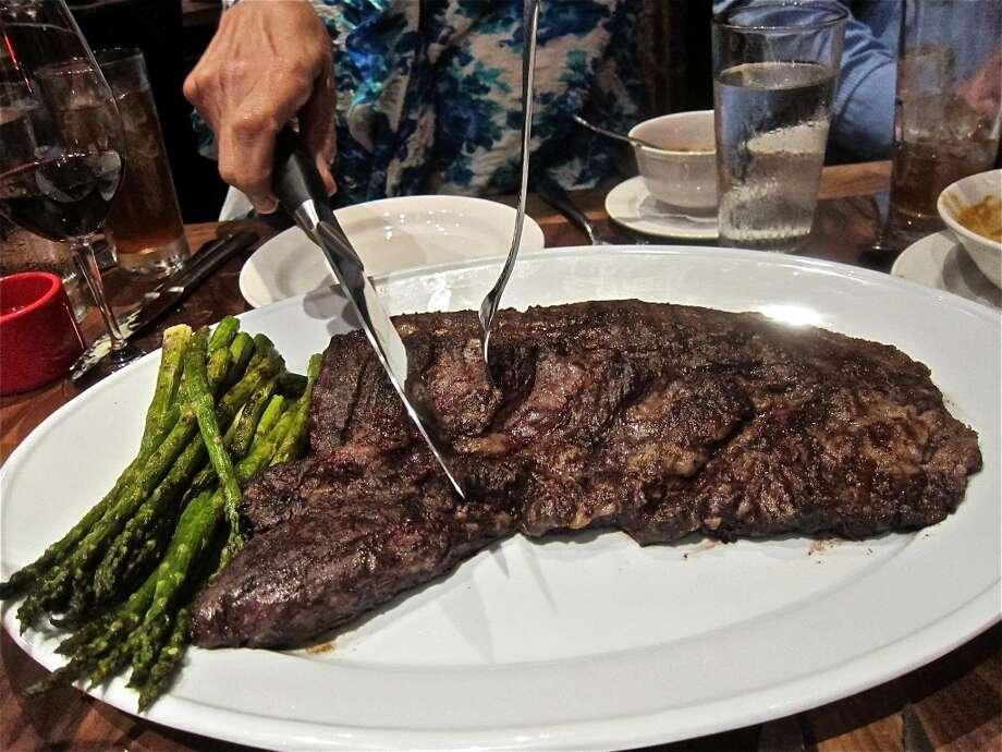 Whole ribeye cap steak for six at La Casa del Caballo.