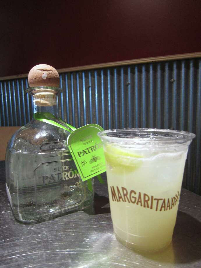 "For a ""real"" margarita in a fast food environment, try Chipotle's new hand-shaken magarita with Patron tequila, agave nectar, Triple sec and fresh citrus juice. Read more here.  Photo: Syd Kearney"