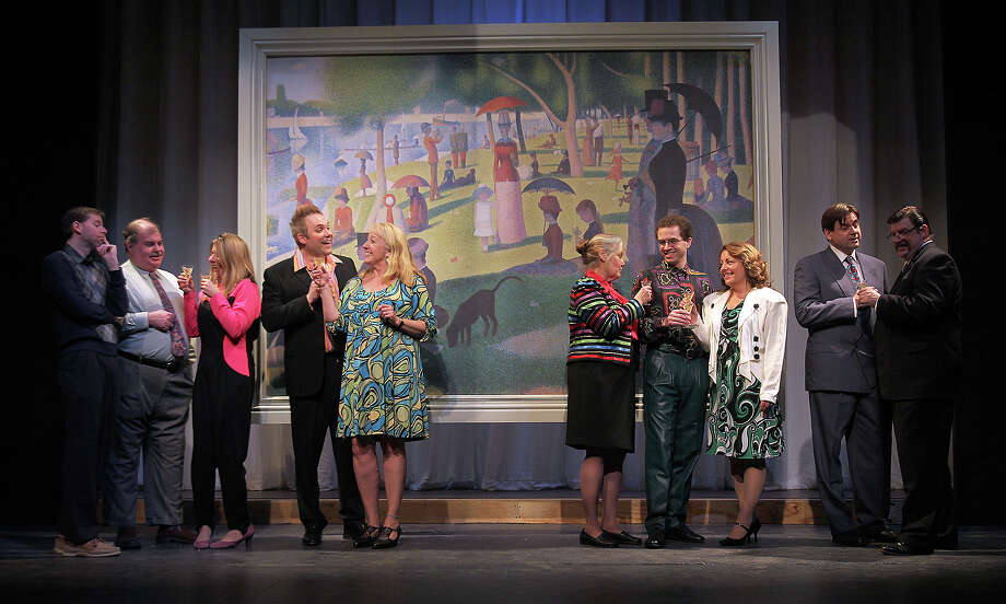 "The cast of Schenectady Civic Players' production of ""Sunday in the Park With George"" (Tom Killips)"