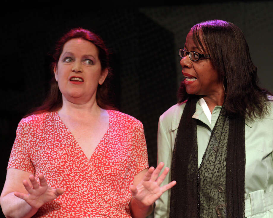 "Joan Justice, left, and Marva Ray in ""The Oldest Profession"" (Albany Civic Theater)"