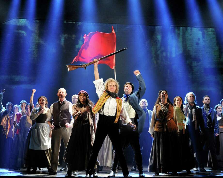 Les Miserables by Cameron Mackintosh, opening night November 28 2010, Paper Mill Playhouse, 22 Brookside Dr., Millburn New Jersey with LAWRENCE CLAYTON (Jean Valjean) ANDREW VARELA (Javert) MICHAEL KOSTROFF (Thenardier) SHAWNA M. HAMIC (Mme. Thenardier) BETSY MORGAN (Fantine) JEREMY HAYS (Enjolras) CHASTEN HARMON (Eponine) JUSTINE SCOTT BROWN (Marius) JENNY LATIMER (Cosette) RON SHARPE (Jean Valjean Alternate) Photo: Deen Van Meer / ©2010 photographer Deen van Meer, photographer should be credited at all times
