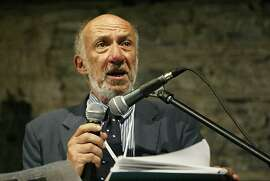 "(FILES) In a file picture dated July 24, 2005, US professor and UN Human Rights Council's Palestine monitor, Richard Falk, gives a speech at the opening sof the World Tribunal on Iraq in  Istanbul. The Wall Street Journal reported April 23, 2013 that Falk, in an online post Tuesday, entitled ""A Commentary on the Marathon Murders,""   blamed the Boston Marathon bombings on the US and Israel—or ""American global domination"" and ""Tel Aviv.""   AFP PHOTO /CEM TURKEL / FILESCEM TURKEL/AFP/Getty Images"
