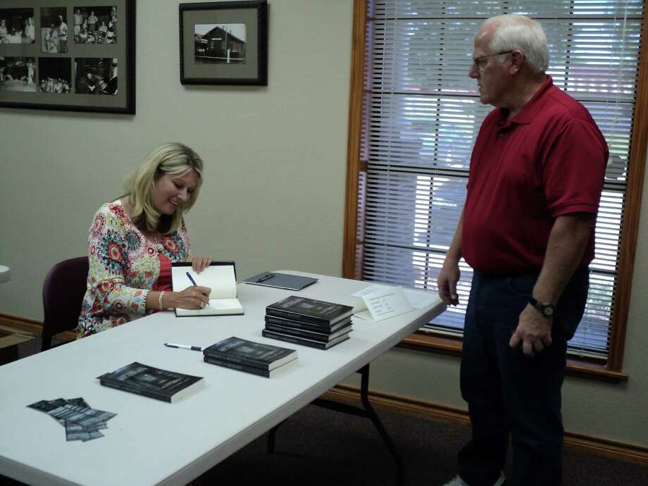 Don Schreiber and Loree Copeland  at the signing. Photo: Handout