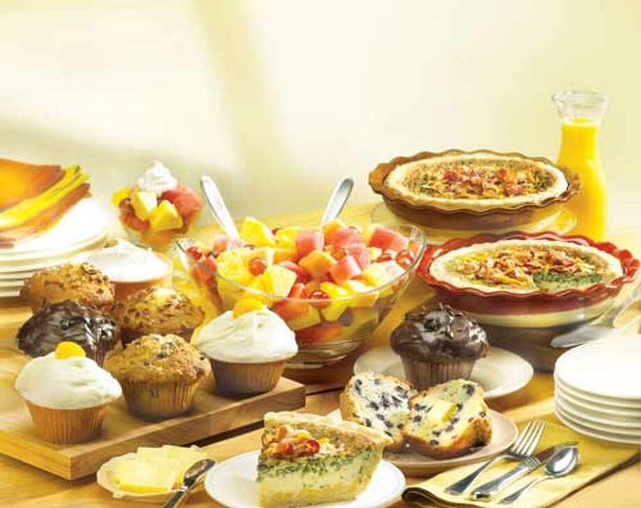Marie Callender's offers a take home Brunch Feast for $49.99. Selections include eight freshly baked muffins, two breakfast quiches, fruit salad and fresh whipped cream topping all packaged and ready to go. Feasts can be ordered online or in-restaurants. 4788 NW Loop 410, 210-680-4257, and 8450 I-35 N., 210-967-8781.