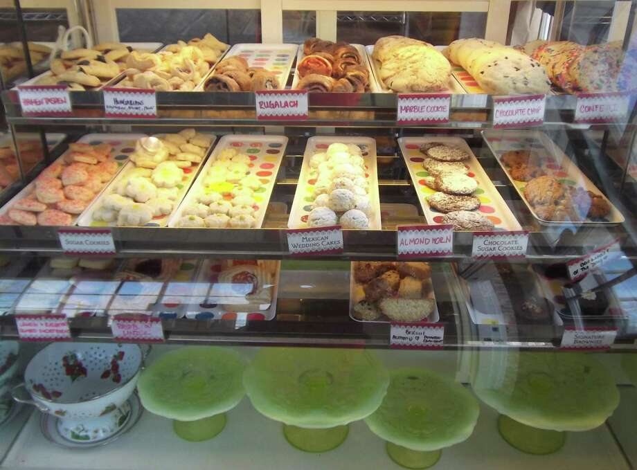 Baked goods are displayed in old-fashioned cases at Sweet & Simple. Photo: Patti Woods