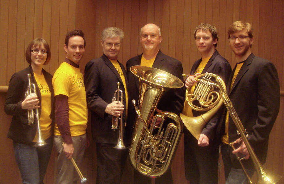 San Antonio Brass -- from left, Kathleen Janert, Graeme Francis, John Carroll, Lee Hipp, William Wiegard and Brad Courage -- is preparing a concert of video game music. Courtesy San Antonio Brass Photo: Courtesy San Antonio Brass