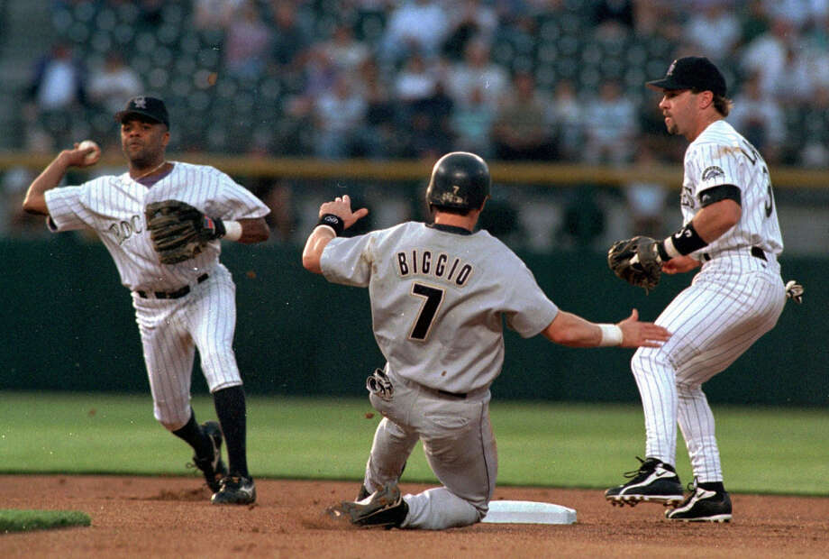 Craig Biggio led the Majors in doubles in 1998 and 1999. Photo: Chuck Bigger, Associated Press