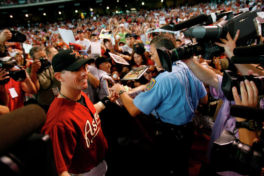 On Sept. 30, 2007, Biggio played the final game of his career against the Atlanta Braves. Photo: Karen Warren, Houston Chronicle / © 2007 Houston Chronicle