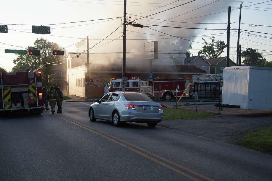 Fire at La Michoacana, May 1. (Brian Greul / www.flickr.com/hotpuppy)