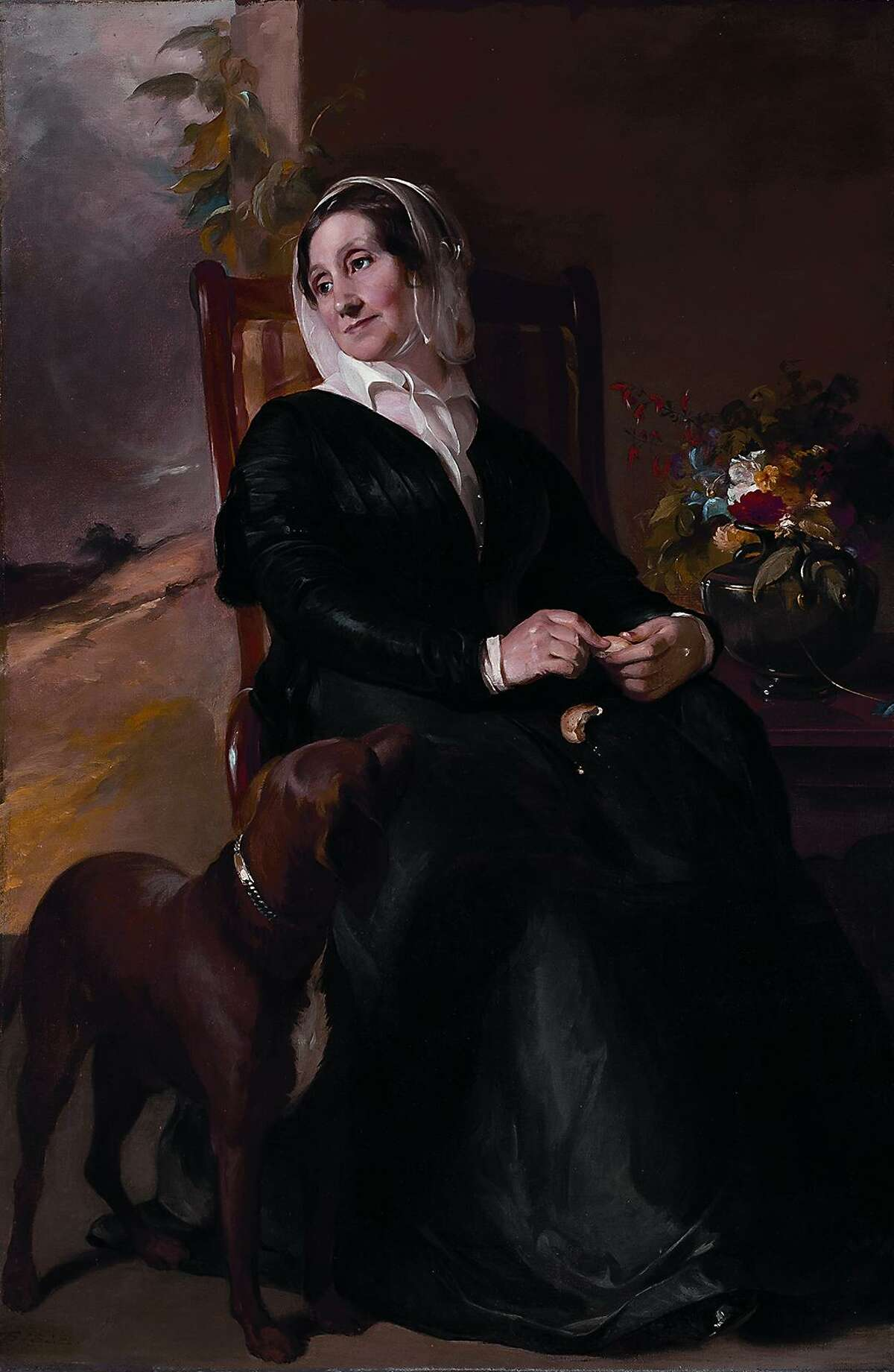 Thomas Sully, Portrait of Sarah Sully and her Dog, Ponto, 1848, oil on canvas, 86.57.1