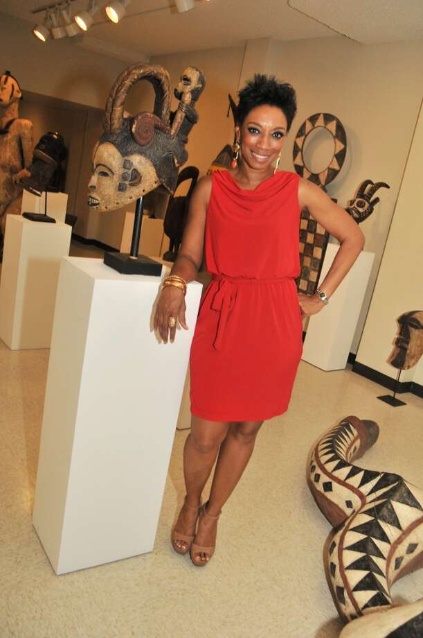 Jalene Mack at a VIP reception for Viola Davis at the Barbara Jordan Archives at the Robert Terry Library at Texas Southern University.
