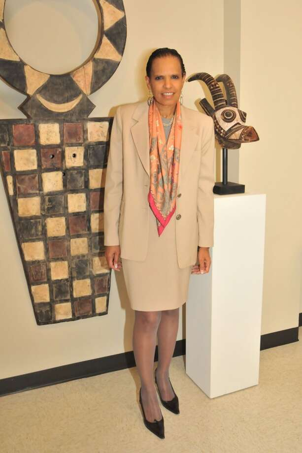 Renee Logans at a VIP reception for Viola Davis at the Barbara Jordan Archives at the Robert Terry Library at Texas Southern University.