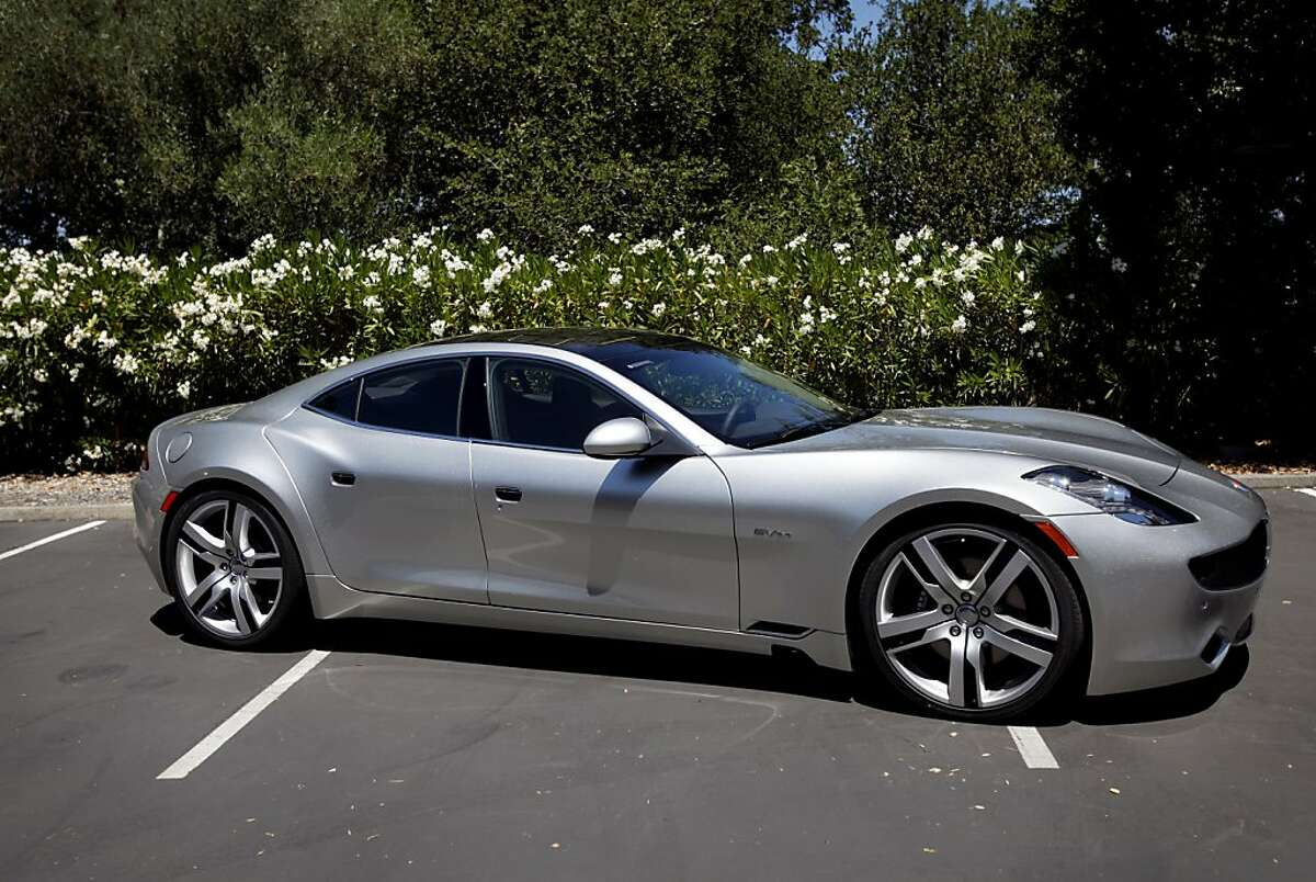 The Fisker Karma, a luxury hybrid car, is one of the first produced by Fisker Automotive in Menlo Park. The Karma is an electric plug-in hybrid capable of speeds over 125 mph.