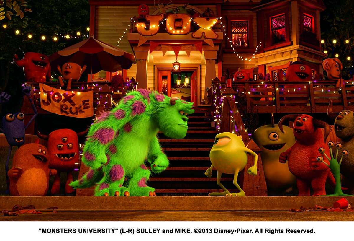 """Sully and Mike in """"Monsters University."""" """"MONSTERS UNIVERSITY"""" (L-R) SULLEY and MIKE. ©2013 Disney•Pixar. All Rights Reserved."""