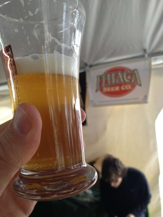 "Ithaca Beer Co's ""White Gold"" A tasty combo of citrus and banana."