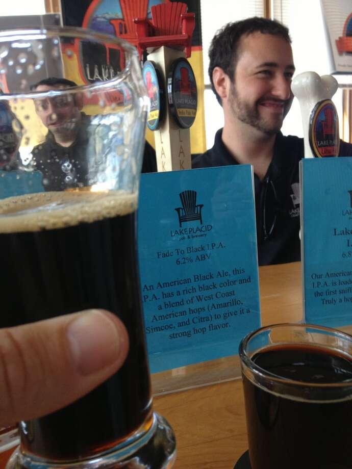 "Lake Placid's ""Fade to Black IPA"" - really solid black IPA."